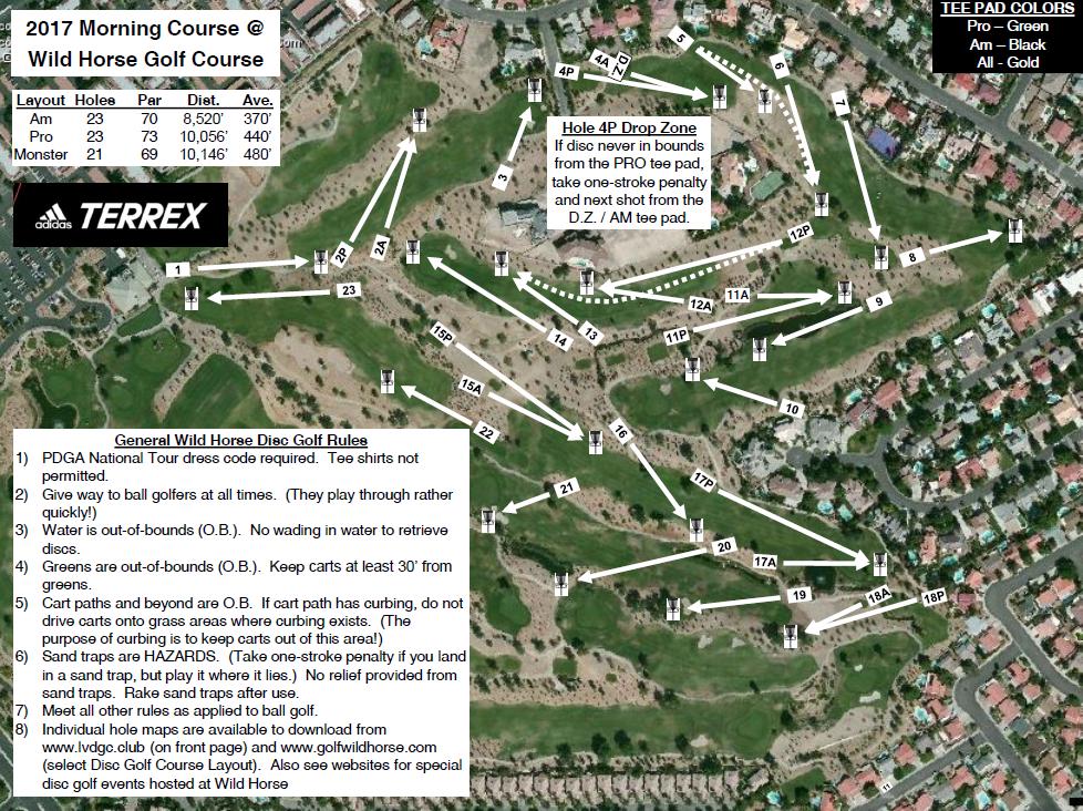 Golf Courses In Las Vegas Map.Wildhorse Golf Disc Golf Course Layouts Wildhorse Golf